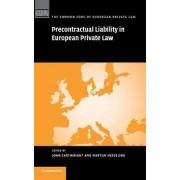 Precontractual Liability in European Private Law by John Cartwright
