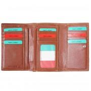 Florence Leather Market Portafoglio Savina in vera pelle morbida (PF074)
