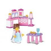 Sluban Building and Construction Blocks M38-B0238 The Princess Little Room Building Block Construction Set (35 Piece)