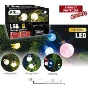 Gyöngy fényfüzér 9,6 m 120 db színes LED KDG 125