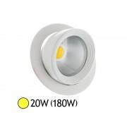Vision-EL Spot Led escargot COB 20W (180W) encastrable orientable Blanc chaud 3000°K