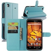 ZTE Boost Max+ Cases Premium PU Leather Wallet Flip Case Cover with Stand Card Holder for ZTE Boost Max+ Plus N9521 Mob