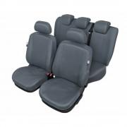 Huse scaune auto imitatie piele Audi Q3 set huse fata + spate Culoare Gri