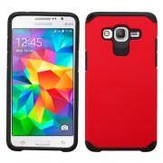 Funda Protector Mixto Samsung Galaxy Grand Prime Rojo / Negro