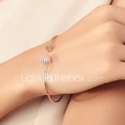 Dames Bangles Cuff armbanden Basisontwerp Liefde Modieus Strass Verguld Legering Hartvorm Zilver Gouden Sieraden VoorBruiloft Feest
