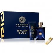 Versace Pour Homme Dylan Blue Комплект (EDT 100ml + SG 100ml + Щипка за пари) за Мъже