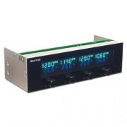 Scythe KM05-BK Kaze Master II - Controllo ventilazione a 4 canali per 13,3 cm (5,25''), colore: Nero