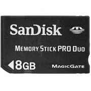 SanDisk Flash 8GB Memory Stick PRO Duo Flash Memory Card SDMSPD-008G-B35 Black