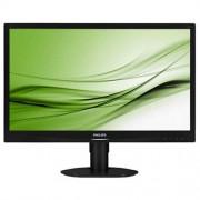 Monitor Philips 241S4LCB, 24'', LED, 1920x1080, 1000:1, 5ms, 250cd, D-SUB, DVI, čierny
