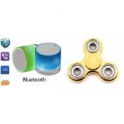 YSB Music Mini Bluetooth Speaker(S10 Speaker) And Metal Spinner (Hand Spinner) for HTC DESIRE 530