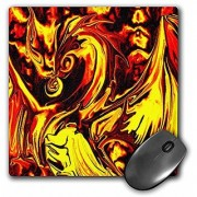 3dRose LLC 8 x 8 x 0.25 Inches Mouse Pad Fire Spirit Dragon Fantasy Abstract Digital Art (mp_124040_1)