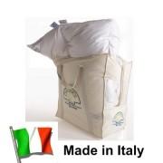 Vero Piumino Trentino Alto Adige piuma oca bianco letto matrimoniale Made Italy