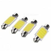 Fregadero 39mm 2W coche Luz de la placa de la COB LED luz blanca fria 30lm (4PCS)