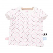 Snoozebaby Stamped Dot T-shirt Funky Pink Mt 56