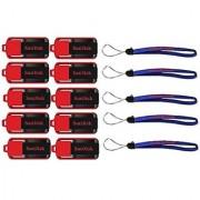 SanDisk Cruzer Switch 16 GB (10 Pack) USB Flash Drive SDCZ52-016G-B35-10PK w/ (5) Everything But Stromboli (TM) Lanyard