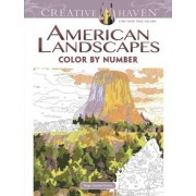 Creative Haven American Landscapes Color by Number Coloring Book by Diego Pereira