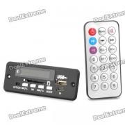 """""""1.0 """"""""Modulo reproductor de MP3 c/ FM / USB / Mini USB / SD - Negro (12V)"""""""
