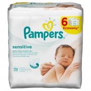 Servetele umede Pampers Sensitive 6pk*56buc 25% reducere