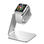 MiTagg NuStand - луксозна алуминиева поставка за Apple Watch (сребриста)