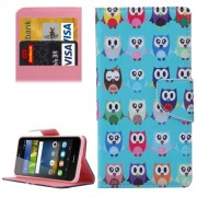 Huawei Y6 Pro Lovely Cartoon Owls Pattern Leather Case with Holder & Card Slots & Wallet