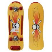 Skate Radical Iniciante Caveira Skateboard Shape 76x24 Bel Sports - 401900