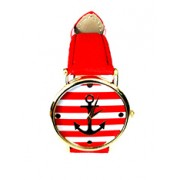 Ceas de damă ancoră roșu - kimio814