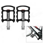 CYCLETRACK CK-109 pedales ligeros de aluminio CNC para bicicleta - negro + plata (2 piezas)