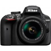NIKON D3400 + 18-55mm AF-P VR + 70-300mm AF-P VR Preta