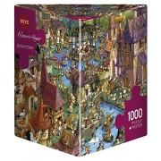 Heye 29496 - Paese dei Conigli, Puzzle 1000 Pezzi, Multicolore