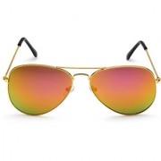 Rico Sordi Brown UV Protection Aviator Sunglass For Men