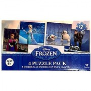 Disney Frozen 12 Piece x4 Puzzles Featuring Elsa Anna Kristof and Olaf
