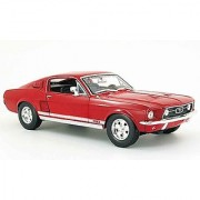 Maisto 1/24 Scale Diecast 1967 Ford Mustang Gt In Color Red