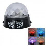 Universal Push Button Rotary Colorful Stage Projection Light - Black + Transparent (3 x AA)