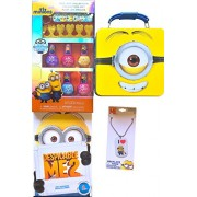 Minions Movie Exclusive Childrens Nail Art Collection Kit With Minion Tin Storage Box, Minion Sticker Book And Minion I Love Minions Necklace