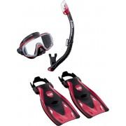 Visio Tri-EX UP-3521 Metallic Red - zestaw maska + fajka + płetwy
