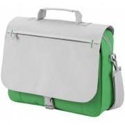 Verstelbare schoudertas grijs/groen
