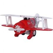 Baby Steps Kinsmart Die-Cast Metal Classic Wing Plane (Red)