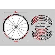 adesivi cerchi mtb fulcrum red metal xrp stickers wheel
