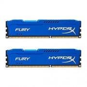 HyperX Fury HX318C10FK2/8 Mémoire RAM 8Go 1866MHz DDR3 CL10 DIMM Kit (2x4Go) Bleu