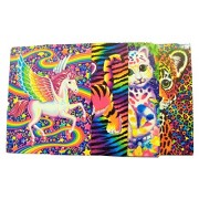 Lisa Frank 4 Folder Set ~ Animal Beauty (Pegasus, Tiger Cub, Colorful Kittens, Cheetah)