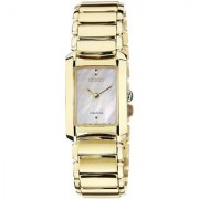 Citizen Gold Stainless Steel Round Dial Analog Watch For Women (EG2973-55D)