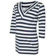MAMA.LICIOUS Striped Maternity Blouse, 3/4 Sleeved Kvinna Svart
