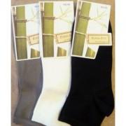 socquettes en bambou ( 3 paires ): noir- ecru-taupe (Taille:35/38 )