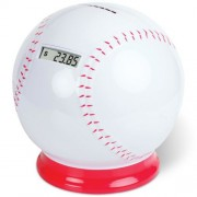 """Timothy Baseball Coin Counting Piggy Bank - Count Coins and Save Money - 6.25"""""""