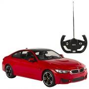 Rastar - BMW M4 Coupé, coche teledirigido, escala 1:14, color rojo (ColorBaby 85031)