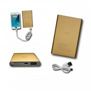 Batterie Usb Externe De Secours 8000mah Avec Led (Câble Inclus) Power Bank Or Gold Output Intelligent Quick Charge Pour Archos 55b Platinum By Ph26®