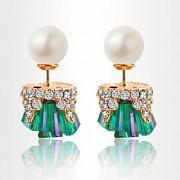 Brinco Forma Geométrica Brincos Compridos Jóias 1 par Fashion Diário / Casual Liga Feminino Dourado