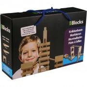 BBlocks Byggstavar med kulbana 26 delar brun trä BBLO890300