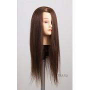 Фризьорска тренировъчна глава естествен косъм 50-55см #705067