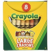 Binney & Smith Crayola(R) Multicultural Large Crayons Assorted Specialty Colors Box Of 8